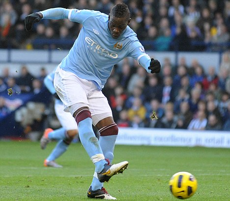 Slow start: Italian striker Balotelli isn't firing on all cylinders for Manchester City