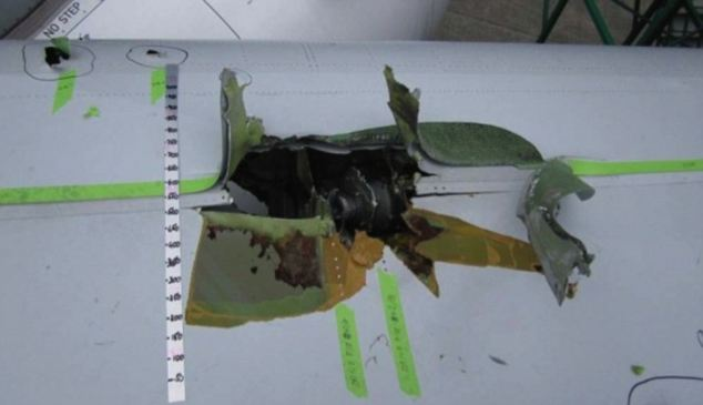 Technical insight: This picture of the damage caused to engine No.2 was taken during the Airbus presentation to air investigators looking into November 4's Qantas A380 scare