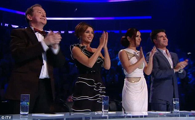 High praise: The star received a standing ovation from the judges following his performance