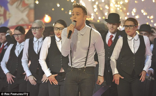 He's back: Former X Factor finalist Olly Murs returned to the stage to perform his new single Thinking Of Me