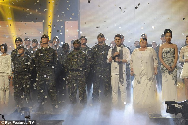 Ensemble: The final X Factor 16 were reunited to perform their cover of David Bowie¿s 1977 classic Heroes for the Help The Heroes charity