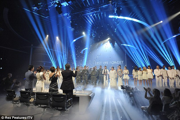 Applause: They were joined by a group of servicemen and servicewomen who have benefited from the charity and the judges gave them a standing ovation after the song