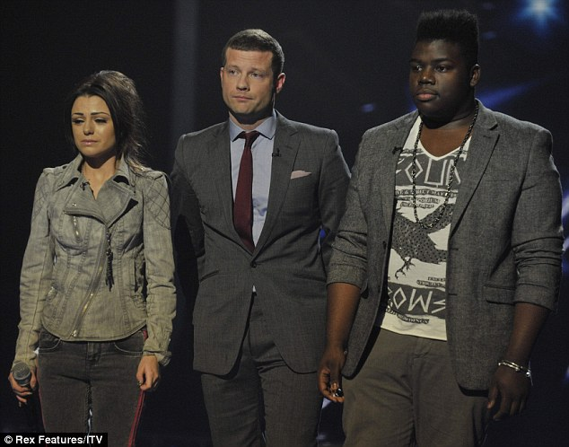 Bottom two: Paije Richardson was sent home on the X Factor last night after facing the sing-off with Cher Lloyd, the first time either of the contestants had been in the bottom two