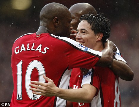 Old foes: Nasri and Gallas fell out over an incident while on international duty