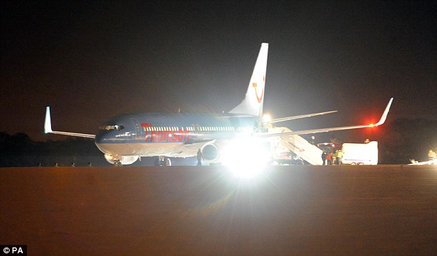 Icy conditions: A plane with 196 passengers overshot its landing position at Newcastle Airport last night. No-one was injured, but the airport was closed for a time after the incident