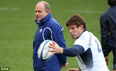 Warning: Scotland's Andy Robinson wants his side to maintain their focus