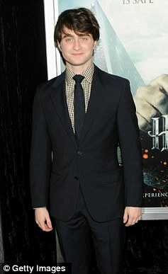 Daniel Radcliffe, who plays Harry Potter in film versions of the book, at the premier of the Deathly Hallows