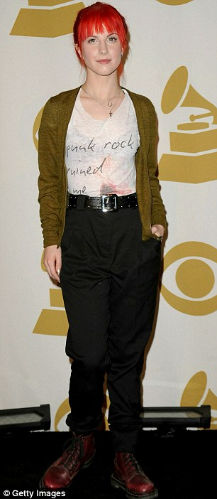 Casual style: Singers Monica (left) and Hayley Williams went for laid back, casual outfits on the black carpet