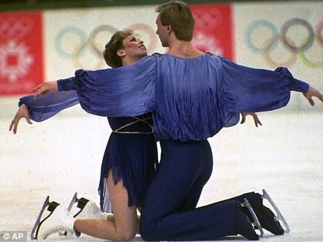 Classic routine: the pair famously won gold at the 1984 Winter Olympics for their Bolero