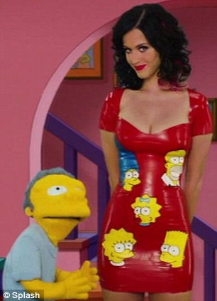 Dirty joke: Katy, who plays bar keeper Moe's girlfriend in the episode, makes a dirty joke when the character kisses her crotch instead of her belly button