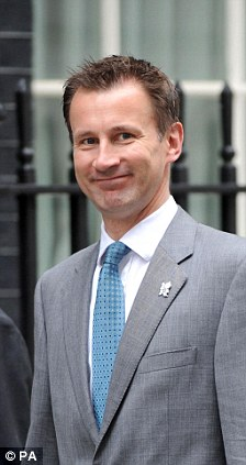 Culture Secretary Jeremy Hunt was on the wrong end of Mr Naughtie's quip