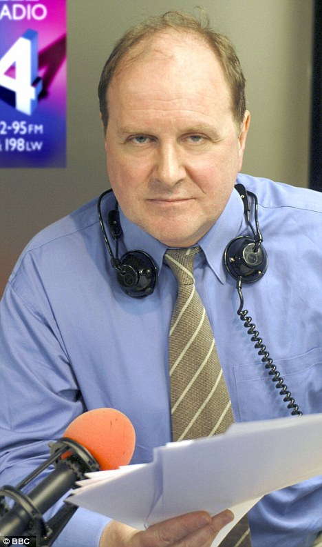 Naughty James: The Radio 4 presenter got his words twisted on the Today programme yesterday