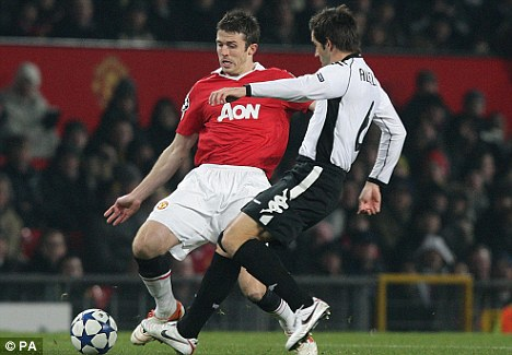 On the radar: Villa are also interested in Manchester United midfielder Michael Carrick