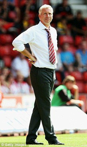 Last job: Pardew was manager of Southampton last season