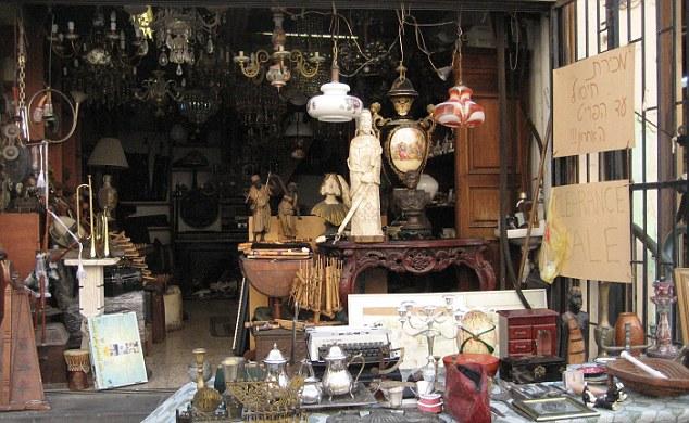 A market stall in Tel Aviv