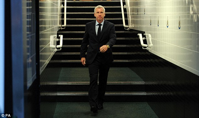Tunnel vision: New Newcastle manager Pardew is not lacking in confidence