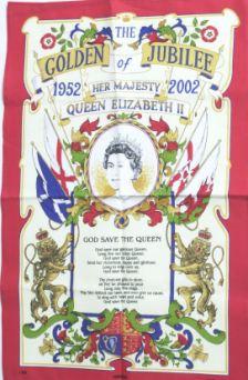 Golden Jubilee: The memorable tea towel to mark the Queen's 50 years as monarch