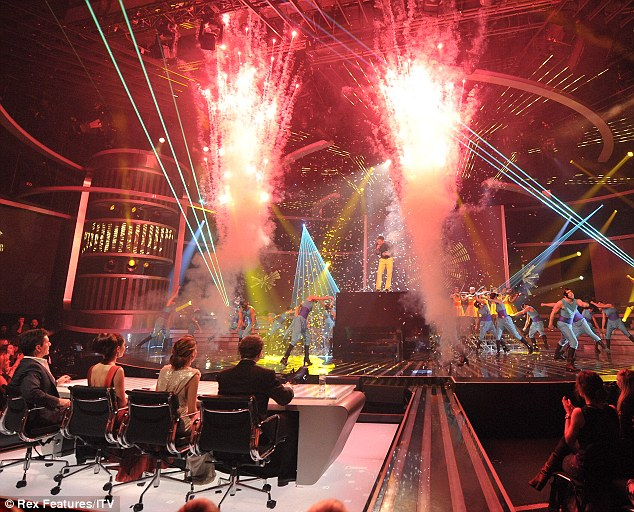 Explosive: The performance was punctuated with a colourful lights show and explosions