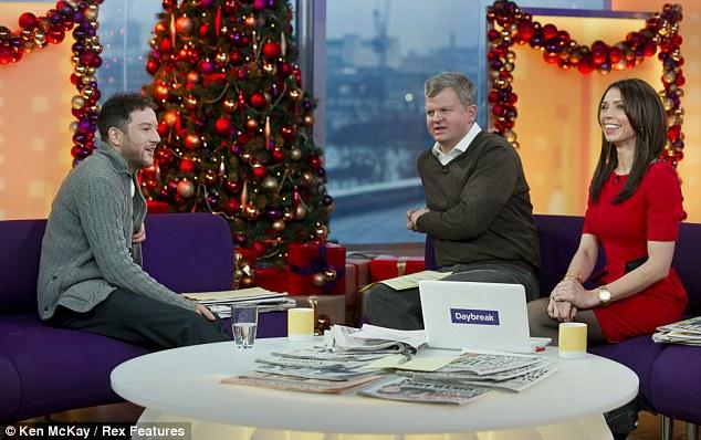 Festive cheer: Matt talked about winning the best Christmas present ever - winning the X Factor