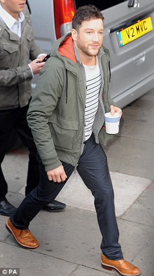 Chemistry: Matt, seen here leaving the This Morning studios after his interview with Holly and Phillip, admitted the chemistry with Rihanna had been 'amazing'