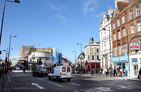 Scam: The two women struck in Camden shortly after the playwright had used a cash point