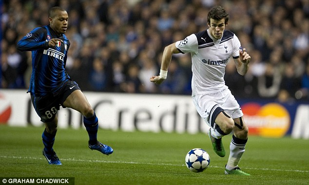 Same again please: Spurs' Welsh flyer Gareth Bale (right) terrorised Inter Milan in the group games