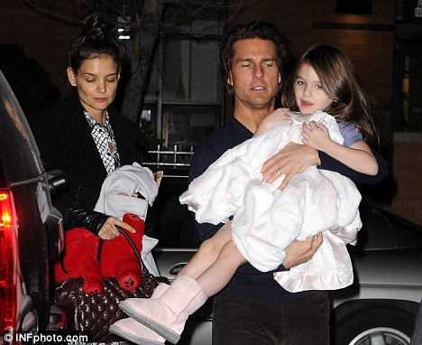 Family outing: The trio attended a performance of The Nutcracker on Friday night