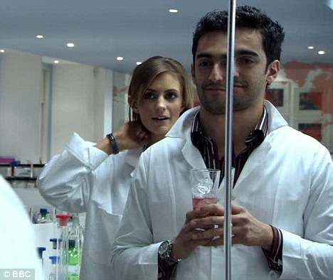 Ignoring instructions: Liz Locke convinced Dr Shibby Robati that men wouldn't mind a pink drink