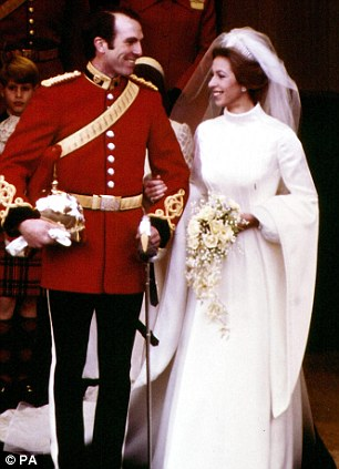 Like mother like daughter: In marrying a commoner, Zara follows in the footsteps of Princess Anne, who wed Captain Mark Phillips in 1973