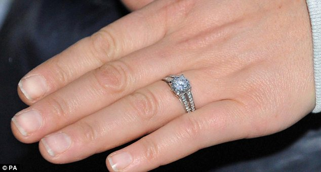 Shocked but very happy: Zara shows off her diamond engagement ring