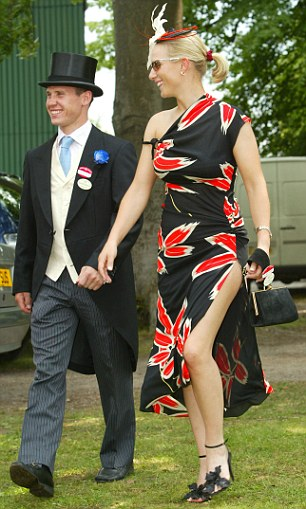 2003: With Johnson at Royal Ascot. Their tempestuous relationship turned violent at points - he once flung her to the ground in a spat outside a friend's house