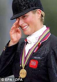 2006: Zara is moved to tears after winning gold for Great Britain at the World Equestrian Games in Germany. Four months later she won BBC Sports Personality of the Year