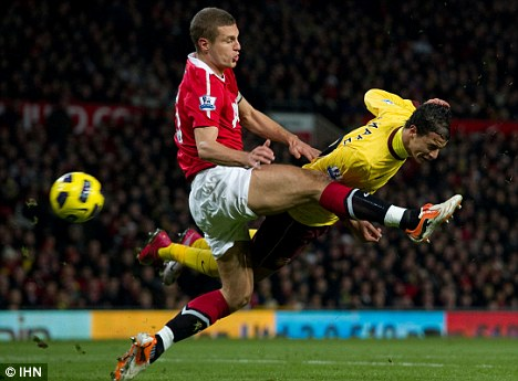 Fever pitch: Defender Vidic (left) is expected to be fit to to face Sunderland