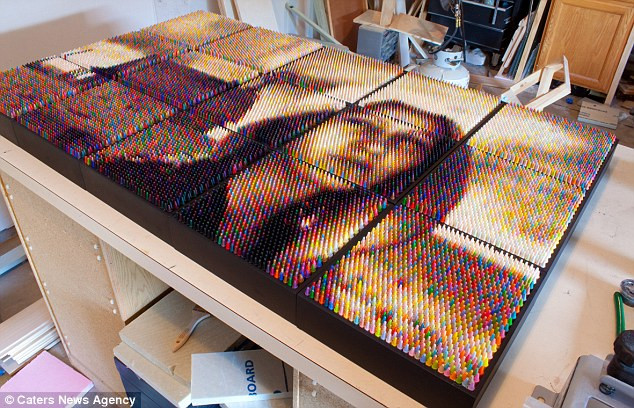 'The individual 'pixels' of wax are precisely packed into specific locations to produce something that uniquely balances both photography and sculpture'