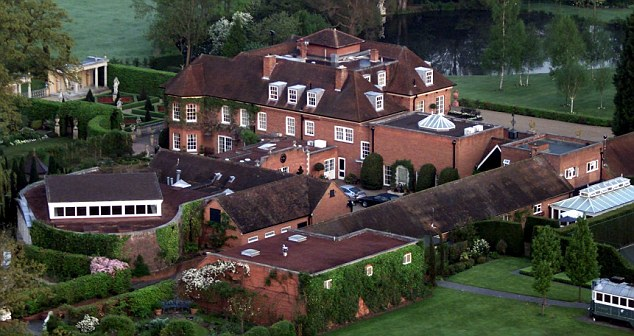 Room for a small one: Elton's huge Windsor mansion will ensure little Zachary has plenty of space to play.  It's a far cry from Elton's more modest upbringing in a semi in Pinner, Middlesex