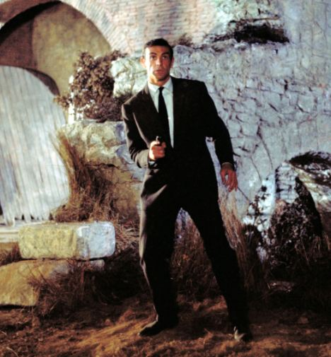 Favourite: Anna said she loves Sean Connery, seen here as James Bond in the film From Russia With Love
