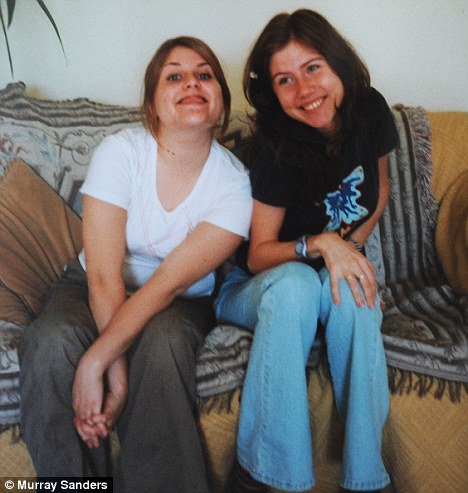 Undercover in Hampshire: Anna Chapman with her sister-in-law Gemma Chapman at the family home near Fordingbridge in December 2002