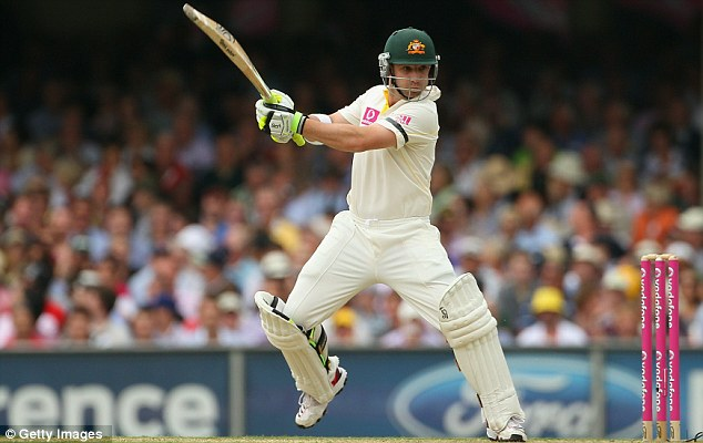 Hughes the man: The Aussie opener has been a model of restraint in this first session