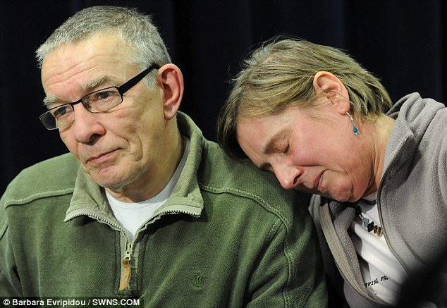 Grief-stricken: 'I wish she would just walk through the door': Jo's mother Teresa Yeates with husband David are struggling to come to terms with their daughter's loss