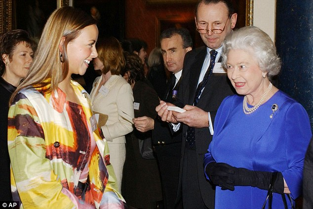 'She never remembers me': Charlotte with the Queen at an event in 2004