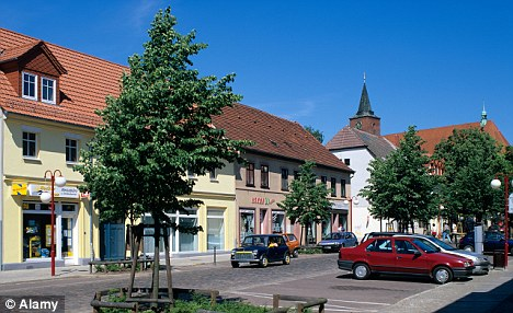 'Dangerous': Bernau in the state of Brandenburg. The town had developed a reputation for neo-Nazi support after the reunification of Germany