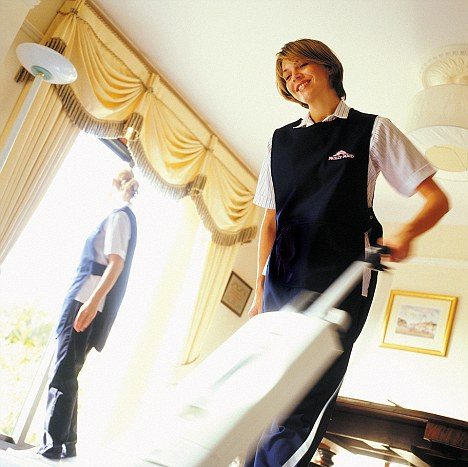 Drudgery: A Polish cleaner's tale of her live working in Germany has become a bestseller (picture posed by model)