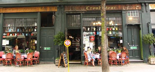 An exterior shot of Troubador restaurant in London