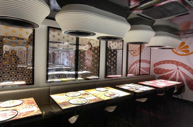 An interior shot of Inamo restaurant in London