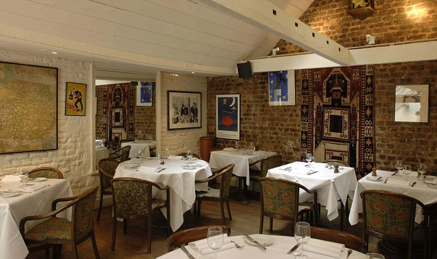 An interior shot of Mon Plaisir restaurant in London