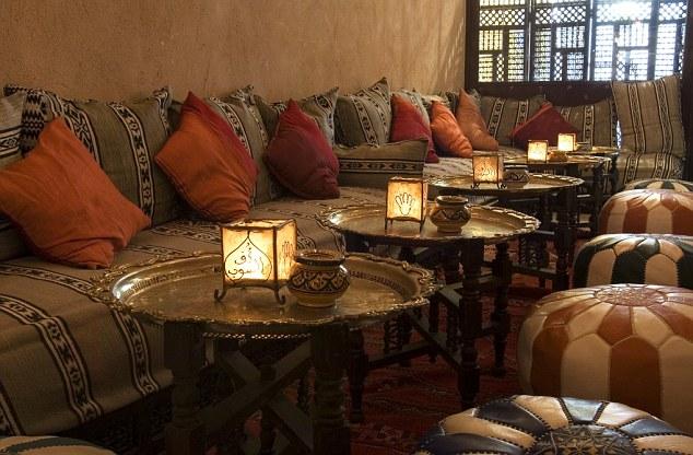 An interior shot of Souk Medina in London