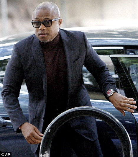 Family: Michael's brother Randy Jackson steps out of his car