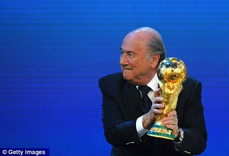 Cool on winter idea: FIFA president Blatter had suggested a winter World Cup could be on the cards, but that has been dismissed by Mohammed Bin Hammam