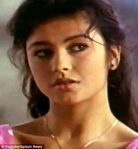 Fresh faced: The actress looks very youthful in ad, which was filmed 21 years ago