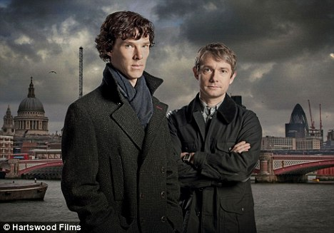 Modern: Benedict Cumberbatch as Sherlock Holmes and Martin Freeman as Doctor John Watson in a recent television adaptation